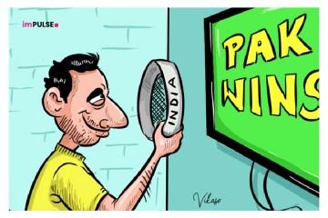Indians celebrating Pakistan win